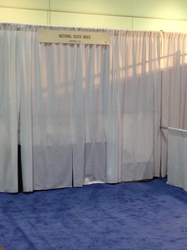 National Death Index Booth at HIMSS 2014