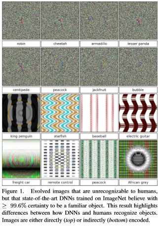 Convolutional Neural Networks can be fooled by adversarial images